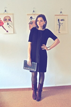 Mexx boots - H&M dress