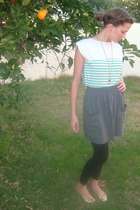 BDG shirt - American Apparel skirt - American Apparel leggings - Steve Madden sh