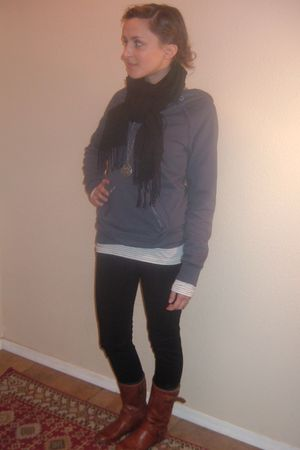 blue Roxy sweater - silver banana republic shirt - black Seven For All Mankind j