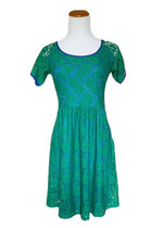 Baby Lace Dress in Kelly Green
