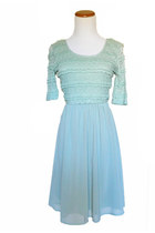 Elegantly Laced Dress in Mint