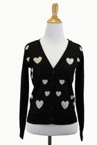 Loverly Heart Printed Cardigan