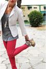 Red-denim-no-name-leggings-white-thrifted-childrens-place-blazer-heather-gra