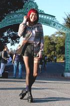 flannel Urban Outfitters shirt - black platform chictopia shop shoes