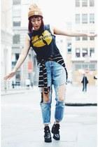 vintage DIY jeans - ankle boots Topshop boots