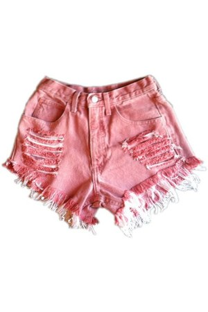 pink Omen eye shorts