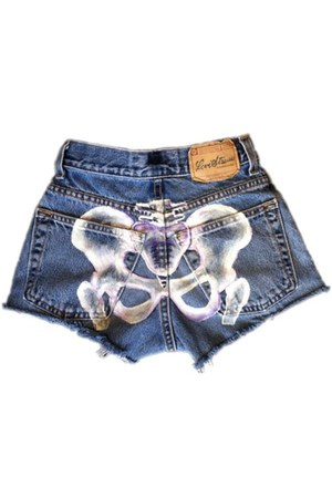 blue Omen eye shorts