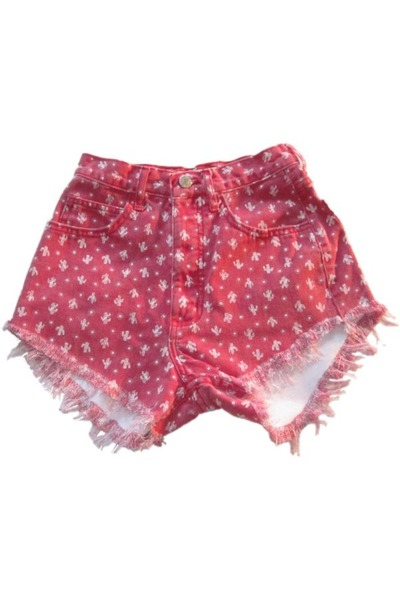red Omen eye shorts