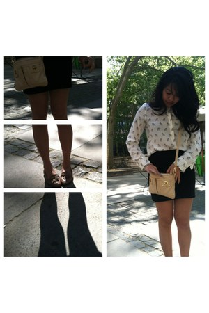 Zara blouse - Marc Jacobs purse - pencil skirt brandy melville skirt