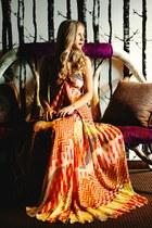 maxi dress Alexis Payton dress - snake print Dolce Vita sandals
