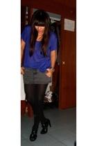 Express t-shirt - Zara skirt - Zara tights - shoes