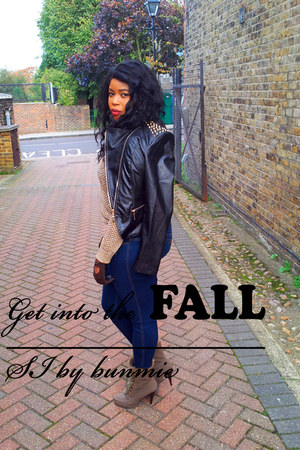 old jumper - Fiore boots - Rocawear jeans - Missguided jacket
