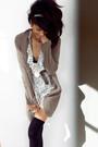 White-forever21-dress-brown-sweater-brown-jones-new-york-belt-black-urban-