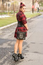 Mart of China boots - romwe dress - PERSUNMALL bag - Bellast necklace
