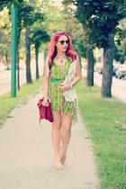 romwe vest - BADstyle dress - PERSUNMALL bag - Ray Ban sunglasses