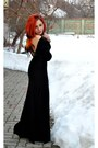 Feather-cape-bad-style-dress