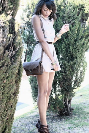 tan asos romper - crimson lace-up Dolce Vita sandals