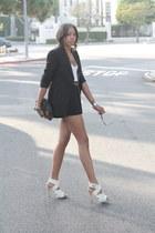 black Zara blazer - black f21 shorts