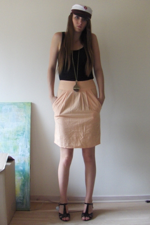 H&amp;M top - VASK skirt - Stine Goya necklace - Bianco shoes