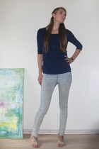 GINA TRICOT top - pieces jeans - Vila shoes - Urban Outfitters accessories - H&M