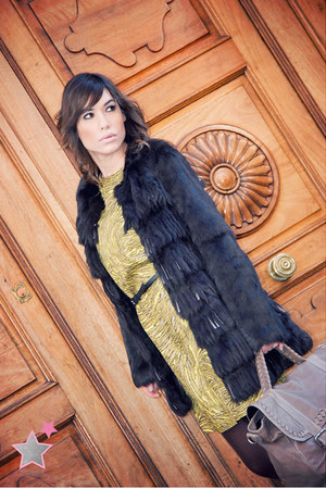 fur coat FURIA MADRID coat - ZIN boots - Tibi dress