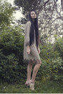Nude-via-ebay-shoes-camel-fringe-trifted-dress