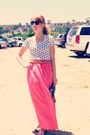 Polka-dot-top-black-vintage-bag-bubble-gum-skirt-vintage-belt