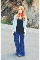 ankle Candies boots - denim shirt - Lucky Brand pants