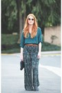 Hi-low-blouse-vintage-pants