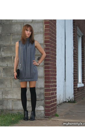 forever 21 dress - melie bianco purse - bare accessories socks - seychelles shoe