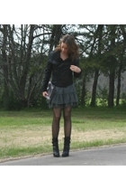 Ebay jacket - forever 21 dress - Guess boots - melie bianco purse