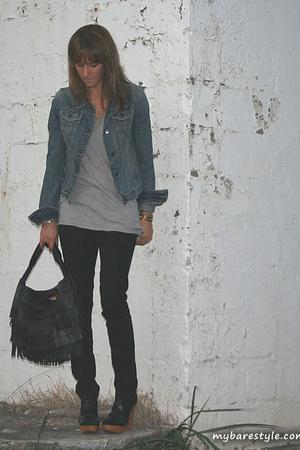 forever 21 shirt - forever 21 pants - Abercrombie jacket - melie bianco purse -