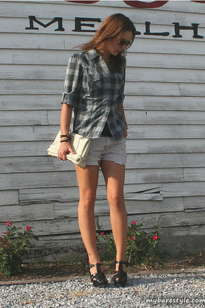 forever 21 shirt - Levis shorts - Charlotte Ronson shoes - melie bianco purse