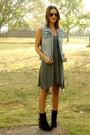 Blue-diy-thrifted-vest-heather-gray-express-dress-black-jeffrey-campbell-boo