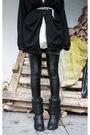 Beige-shikka-dress-gray-vintage-belt-black-monki-cardigan-gray-bikbok-tigh