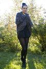 Beige-bikbok-sweater-black-gina-tricot-shorts-brown-vintage-belt-gray-cubu