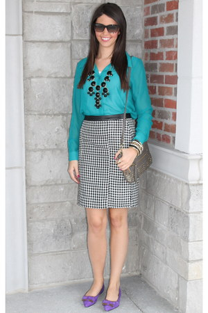 Forever21 skirt - Forever21 blouse - Jcrew necklace