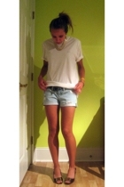 Calvin Klein Mens t-shirt - American Eagle shorts - vintage necklace - DSW shoes