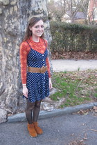 Dirty Laundry shoes - thrifted dress - Forever 21 shirt - flea market necklace -