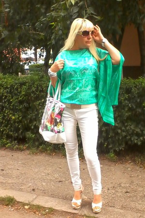 Gossip blouse - River Island bag - diva sandals