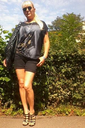 david jones bag - ferrari shorts - new look top