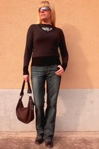 SOliver cardigan - Esprit jeans - Prada bag