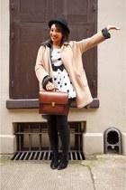 topshop WOOLEN COAT coat - forever 21 polka dot dress dress