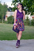 desigual skirt - Zara shoes - Atmosphere top