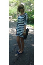 H&M dress - unknown brand bag - no brand sunglasses - Stradivarius flats