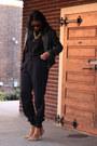 Black-zipper-detail-diy-sweater-olive-green-leather-biker-andrew-marc-jacket
