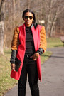 Red-diy-coat-black-givenchy-sweater-black-velvet-bcbg-pants-miu-miu-heels