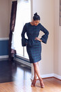 Brown-lace-up-gianvito-rossi-boots-navy-lantern-sleeve-diy-dress