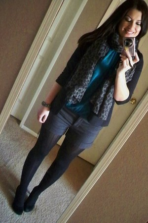 hm shorts - nordstrom blazer - express tights - tj maxx bracelet - express top