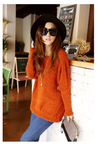 carrot orange sweater